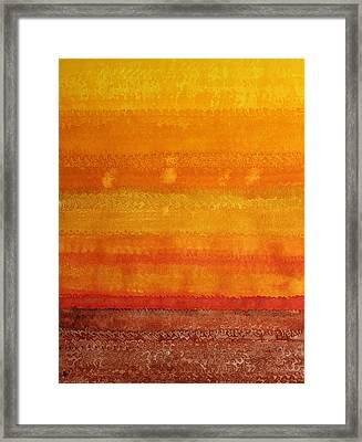 Earth And Sky Original Painting Framed Print by Sol Luckman