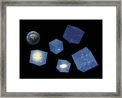 Earth And Space, Conceptual Artwork Framed Print by Science Photo Library