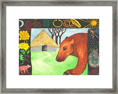 Earth Bear Healing Framed Print by Cat Athena Louise