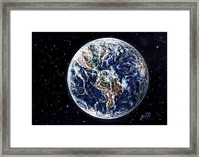 Earth Beauty Original Acrylic Painting Framed Print