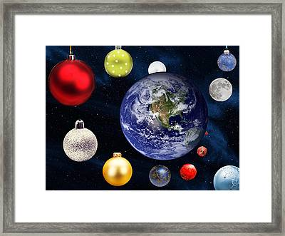 Earth Christmas 2 Framed Print by Bruce Iorio