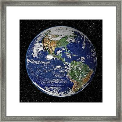 Earth Framed Print by Dave Lee