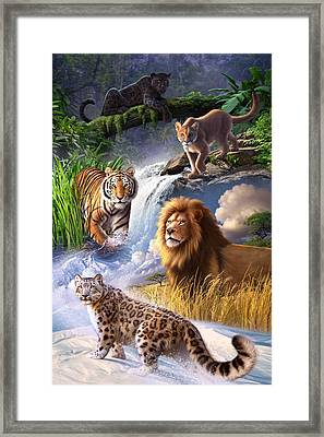 Earth Day 2013 Poster Framed Print by Jerry LoFaro