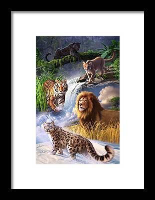 Panther Framed Prints
