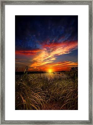 Earth Day Sunset Framed Print by Mark Andrew Thomas