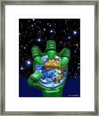 Earth Enslaved Framed Print by Clif Jackson
