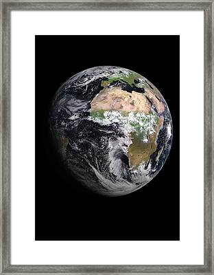 Earth Framed Print by European Space Agency/eumetsat