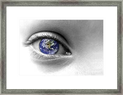 Earth Eye Framed Print by Delphimages Photo Creations