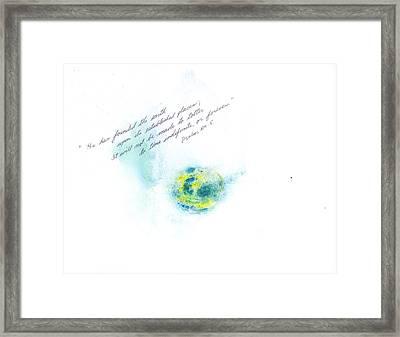 Earth Forever Framed Print by B L Qualls