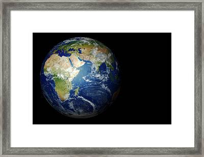 Earth From Space Framed Print by Mikkel Juul Jensen