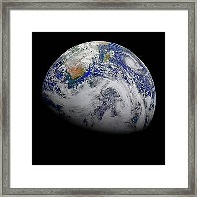 Earth From Space Framed Print by Nasa Goddard Photo And Vide