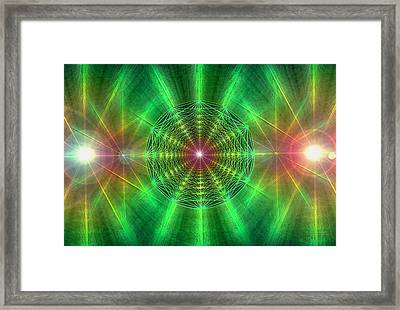 Framed Print featuring the drawing Earth Grid Six by Derek Gedney