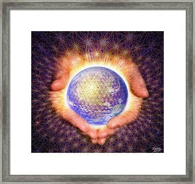 Framed Print featuring the painting Earth Healing by Robby Donaghey