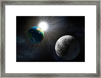 Earth Framed Print by Henning Dalhoff