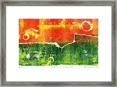 Earth Home With View Framed Print
