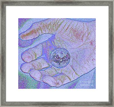Earth In Hand Framed Print by First Star Art