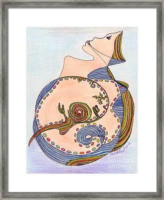 Earth In Harmony Framed Print by Mukta Gupta