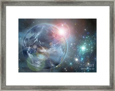 Earth In The Space Framed Print by Martin Capek