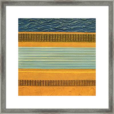 Earth Layers Abstract Ll Framed Print by Michelle Calkins