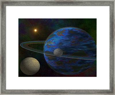 Earth-like Framed Print