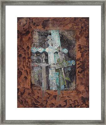 Framed Print featuring the mixed media Earth Lord Shrine II by Carla Woody