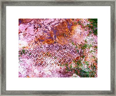 Earth Map 1 Framed Print by Chuck Taylor