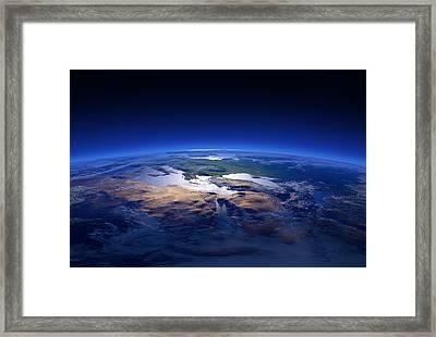 Earth - Mediterranean Countries Framed Print by Johan Swanepoel