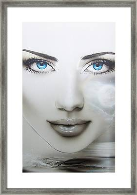 Portrait - ' Earth Moon ' Framed Print