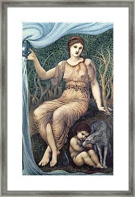 Earth Mother, 1882 Gesso Framed Print by Sir Edward Coley Burne-Jones