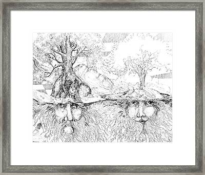 Earth People Framed Print