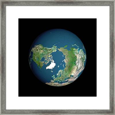 Earth Framed Print by Planetobserver/science Photo Library