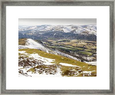 Earth Ramparts Of An Ancient Hill Fort Framed Print by Ashley Cooper