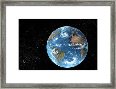 Earth Framed Print by Richard Bizley
