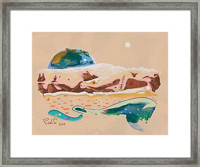 Earth Rising Framed Print by Ralf Schulze