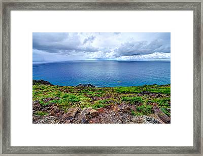 Earth Sea Sky Framed Print
