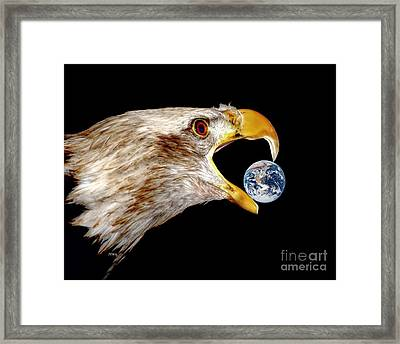 Earth Shattering Influence Framed Print