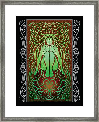 Earth Spirit V.2 Framed Print by Cristina McAllister