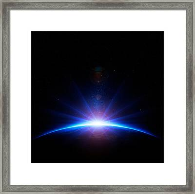 Earth Sunrise Framed Print by Johan Swanepoel
