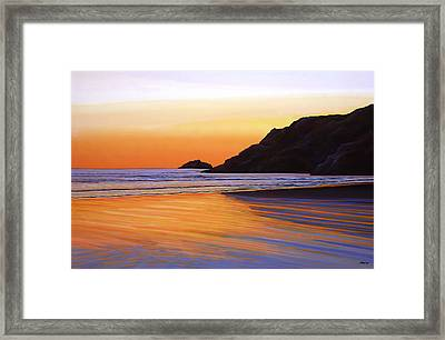 Earth Sunrise Sea Framed Print