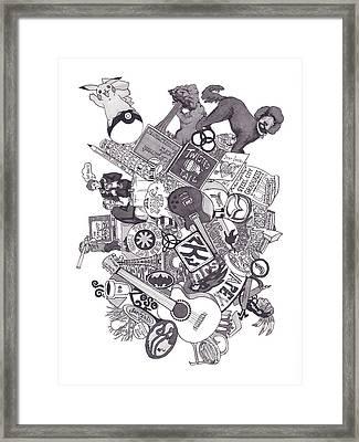 Earth To Zach Framed Print by Tyler Auman