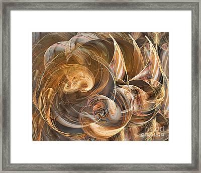Earth Tone Luminance Framed Print by Leona Arsenault