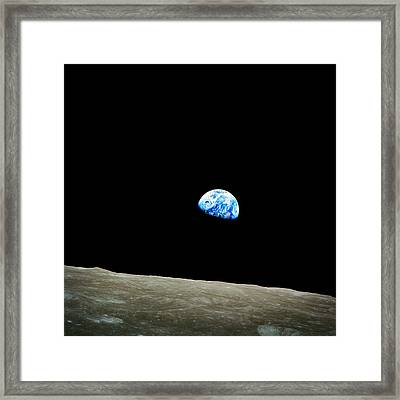 Earth View From Moon Framed Print