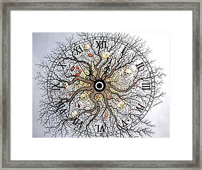 Earth Vision Of An Old Tree Framed Print by Paulo Zerbato