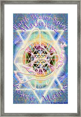 Earth Water Spirit Madonna Peace Matrix Framed Print