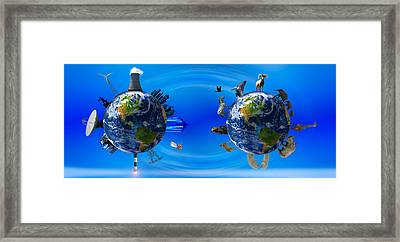 Earth With Circle Of Props Framed Print by Panoramic Images