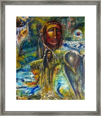 Earth Woman 2 Framed Print by Kicking Bear  Productions