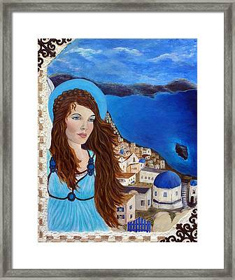 Earthangel Athena Framed Print by The Art With A Heart By Charlotte Phillips