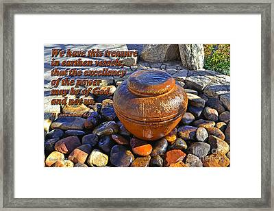 Earthen Vessels Framed Print