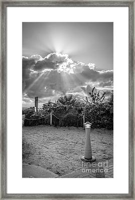 Earthly Light And Heavenly Light - Black And White Framed Print by Ian Monk