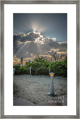 Earthly Light And Heavenly Light - Hdr Style Framed Print by Ian Monk